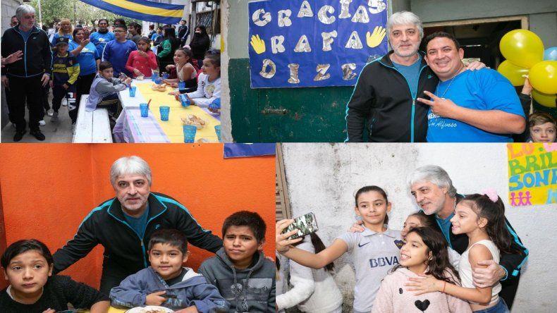 El costado solidario de Rafael Di Zeo: ayuda desde hace años a merenderos y fundaciones