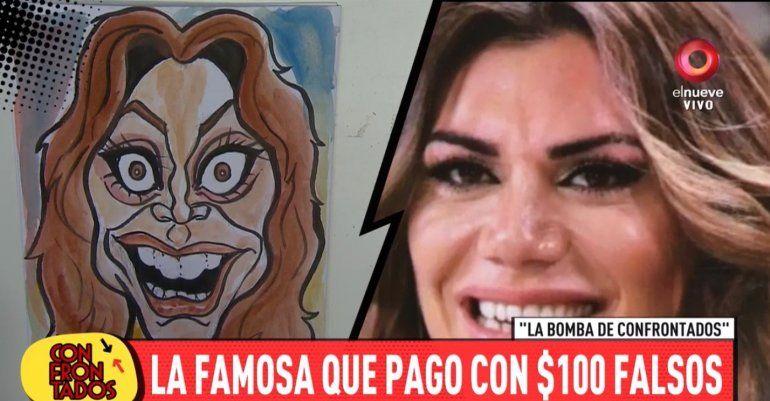 Confuso episodio con una famosa que pagó con un billete de $100 falsos