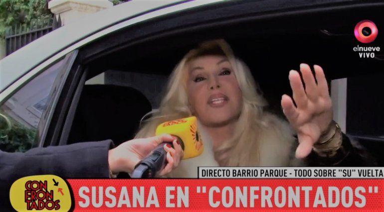 Susana Giménez graba para su vuelta a la TV: Quiero conocer al nieto de Monzón