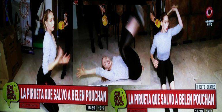 Belén Pouchán mostró en vivo la pirueta de contorsionista que hizo para escapar de un robo