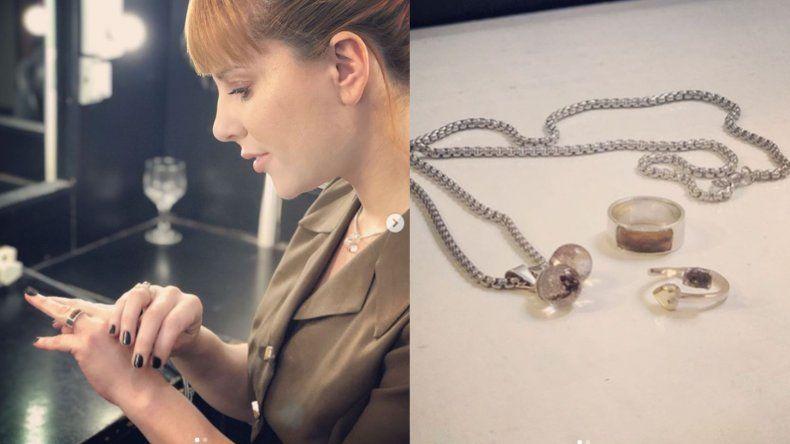 El extraño anillo de Agustina Kämpfer, realizado con cordón umbilical de su hijo