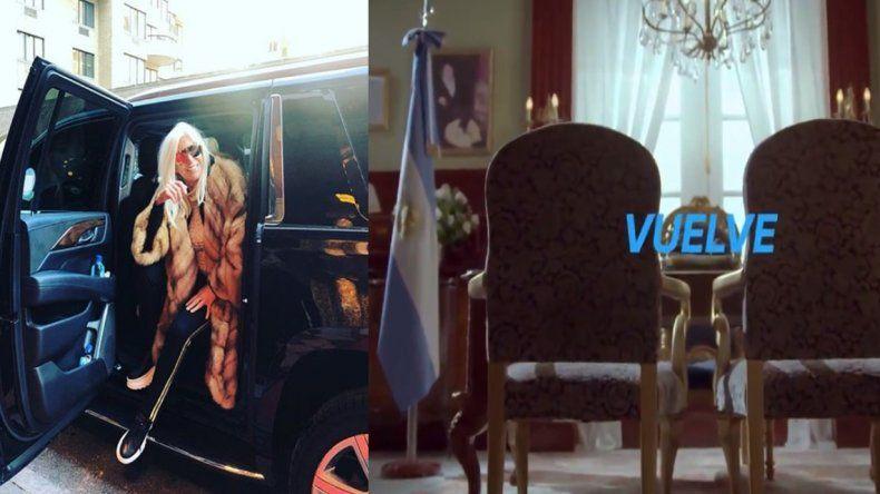 La promo de Susana Giménez simulando a Cristina Kirchner en el Sillón de Rivadavia