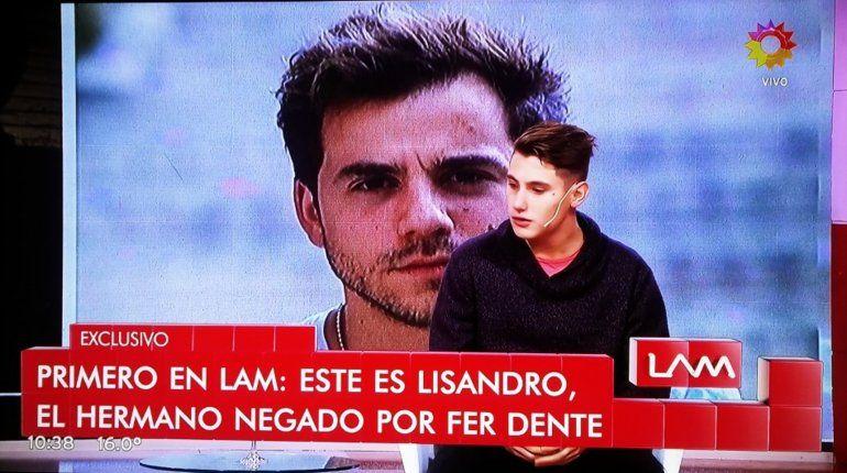 Habló Lisandro, el hermano biológico de Fernando Dente: Al principio fue chocante, yo era fan de Disney y lo miraba en la tele
