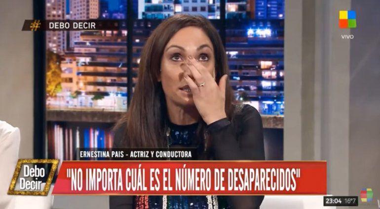 Ernestina Pais se quebró recordando a su padre, desaparecido en la dictadura militar: Suena el timbre, y hay un segundo que digo por ahí es él