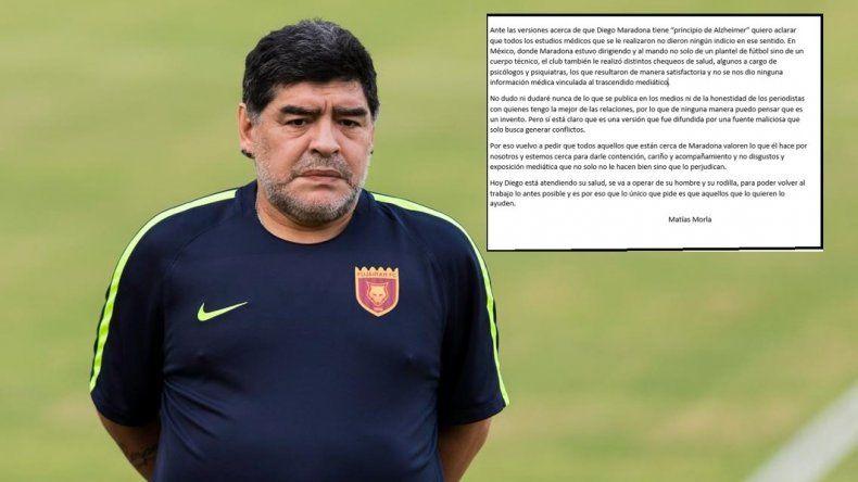 ¿Maradona tiene Alzheimer?: La palabra de su abogado Matías Morla
