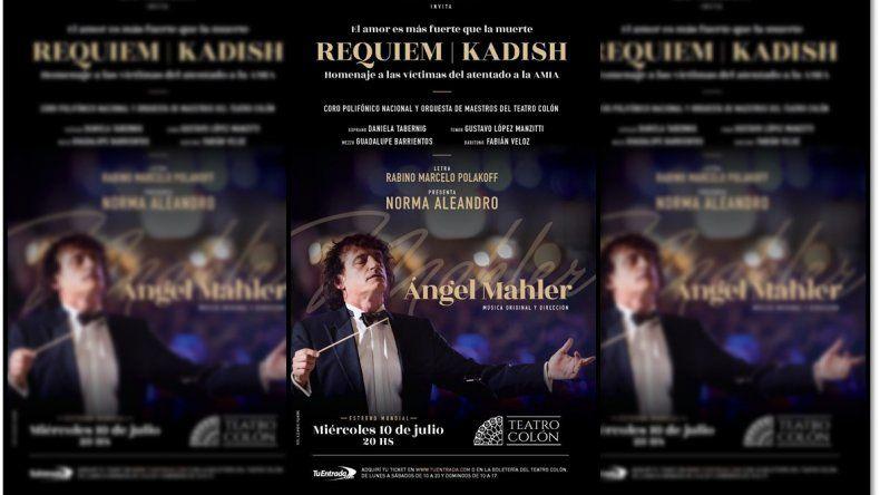 Ángel Mahler presenta un nuevo espectáculo Requiem/Kadish