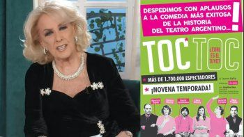 mirtha legrand, la artifice del regreso de toc toc en el 2020