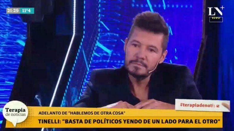 Marcelo Tinelli, desilusionado: Me cansó el tema de la política