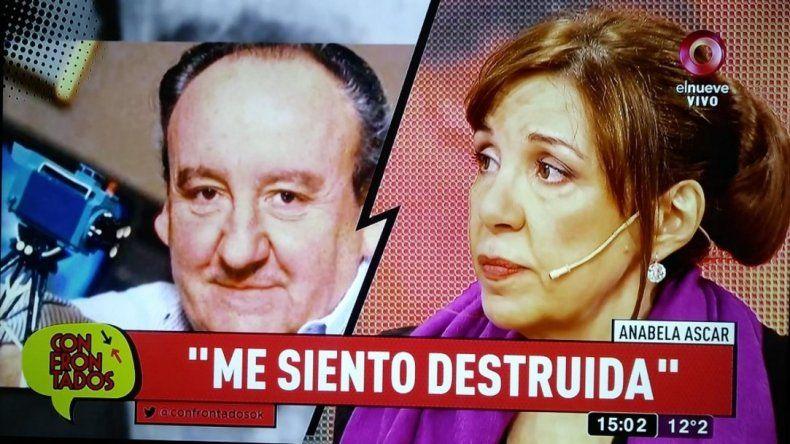 Conmovedor relato de Anabela Ascar por la muerte de Héctor Ricardo García: Se veló a sí mismo; lo dejé un día muerto solo frente a la TV