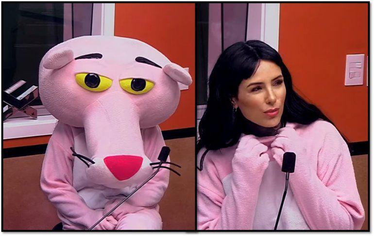 Cande Tinelli dio una insólita nota vestida de La Pantera Rosa: Volví a vivir con mi papá por culpa de la macrisis