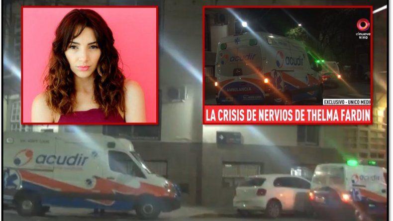 La crisis nerviosa de Thelma Fardin: ambulancias y un psiquiatra la atendieron de urgencia