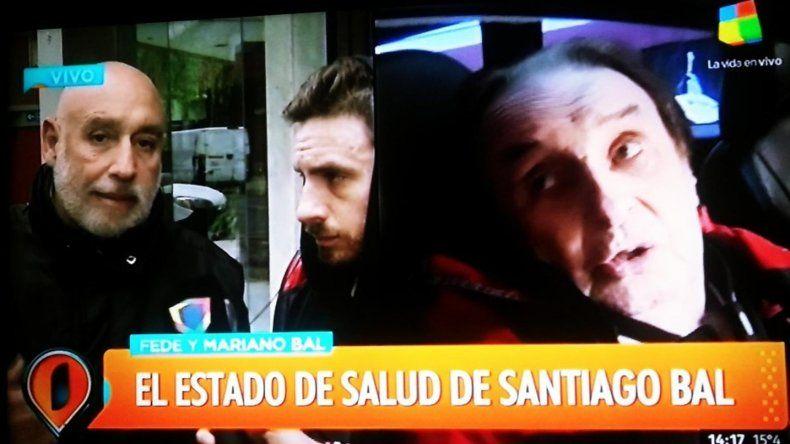 Federico y Mariano, juntos, visitaron a Santiago Bal: No sabemos cómo puede salir de acá