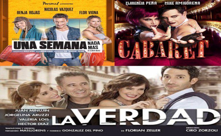 Una semana nada más, Cabaret y La Verdad, lo más visto en teatro