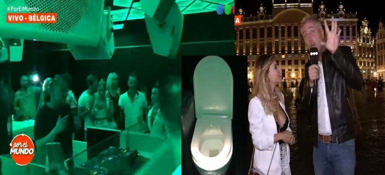 ¡Hacé todo junto! La insólita fiesta electrónica que se realiza dentro de un baño en Bélgica, con DJ incluido