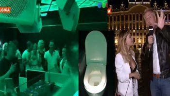 ¡Hacé todo junto! La insólita fiesta electrónica que se realiza dentro de un baño en Bélgica