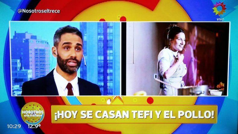 El amor me hizo mejor persona, la romántica declaración de El pollo Álvarez, antes de casarse con Tefi Russo