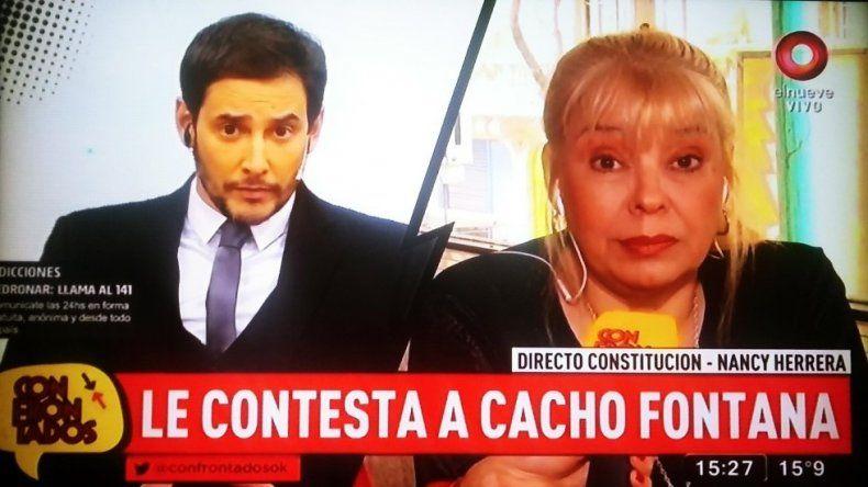 Nancy Herrera respondió a Cacho Fontana: No le metí los cuernos a Olmedo con él; fui a buscar droga