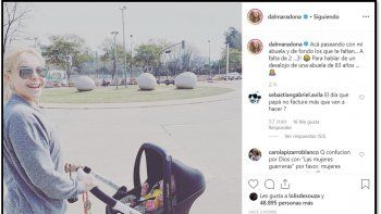En el día del allanamiento Dalma Maradona posteó una foto de Claudia Villafañe con un fuerte mensaje