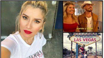 Laurita Fernández reveló que en su casamiento con Fede Bal en Las Vegas dio el nombre de otra actriz