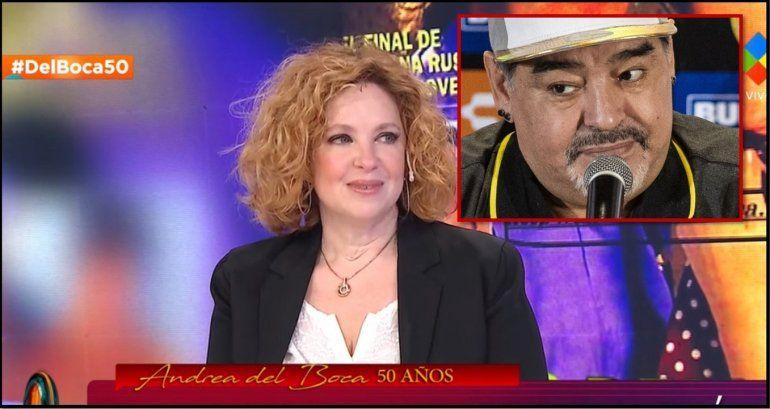 Andrea del Boca habló de sus romances y reveló qué pasó con Maradona: Llegué al hotel y tenía toda la habitación llena de rosas rojas