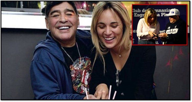 Rocío Oliva trabaja con Maradona en Gimnasia pero le sigue haciendo juicio y le reclama 6 millones