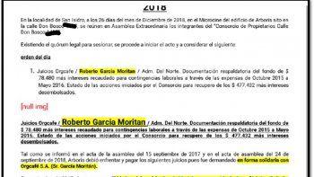 Los documentos que prueban los juicios al novio de Pampita por expensas y demandas laborales