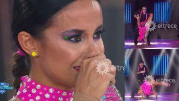 Lourdes Sánchez se cayó en la coreo y se quebró en llanto