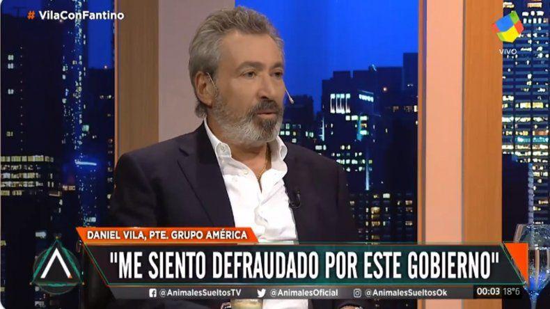 Sorprendentes declaraciones de Daniel Vila: señaló que se siente defraudado por Macri y denunció un apriete de parte del Presidente