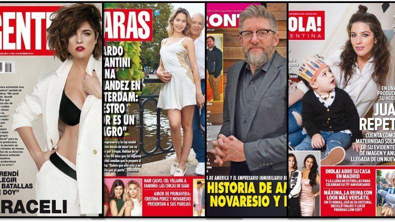 Araceli habla de todo, Juana Repetto dice que su hijo sabe que no tiene padre y las demás revistas de la semana