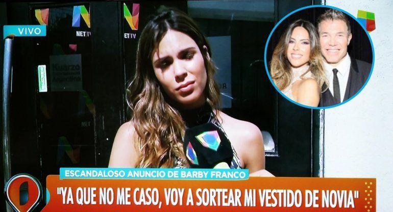Barby Franco, abandonada antes del altar, enojada y triste, sortea su vestido de novia: Ahora soy yo la que no me quiero casar