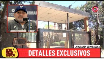 Maradona se muda a un country a dos cuadras de la casa de Rocío Oliva