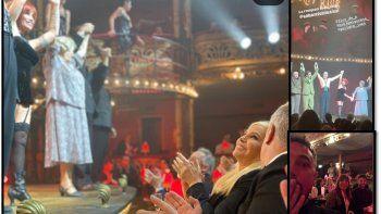gala especial de cabaret: susana gimenez, marley y demas invitados aplaudieron el musical