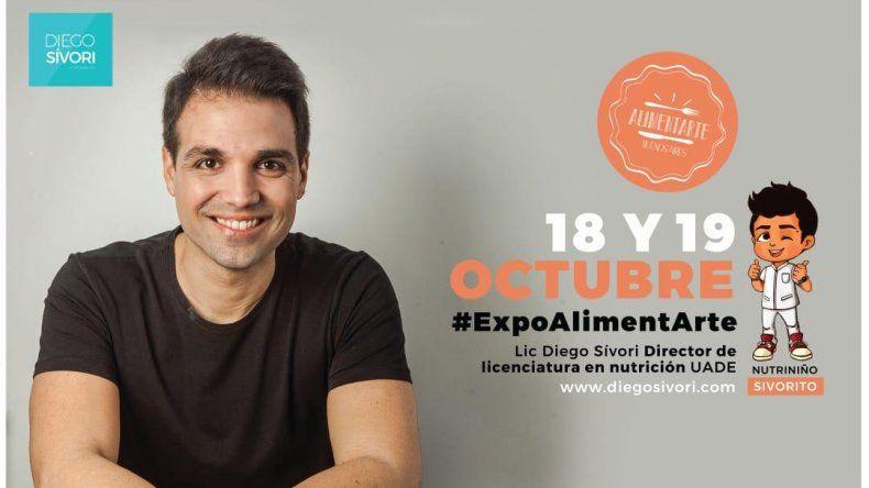 Diego Sívori, el nutricionista de Cocineros Argentinos, presenta ExpoalimentArte