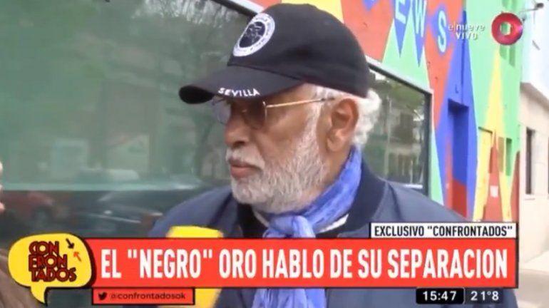 El Negro Oro confirmó su separación: Nos equivocamos