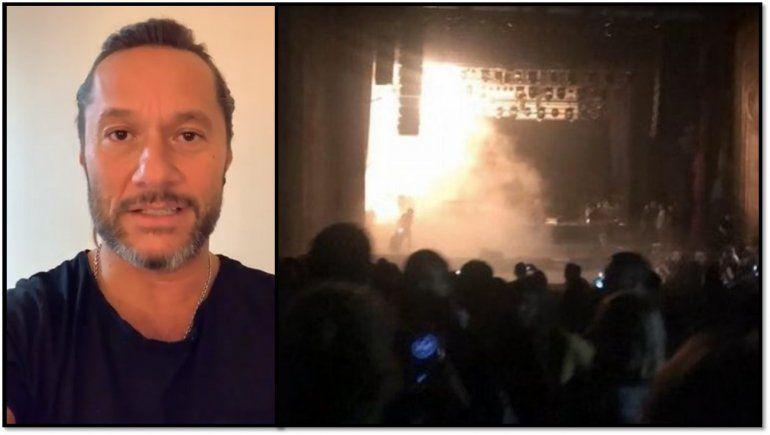 Después de la suspención de un show a causa de un incendio, Diego Torres contó que pasó y envió tranquilidad