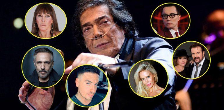 Los famosos despiden a Cacho Castaña: el último adiós de los artistas