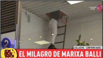 Marixa Balli relató su accidente y mostró la escalera de la que se cayó desde 4 metros de altura
