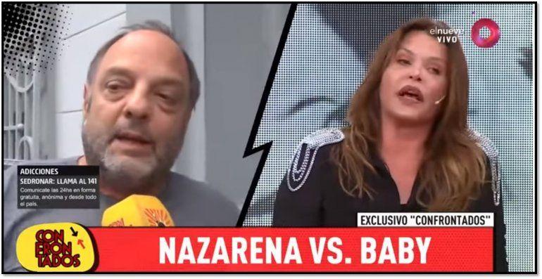 Nazarena Vélez respondió a las críticas de Baby Etchecopar: Es nefasto, parece el tío borracho que hay que esconder en la familia