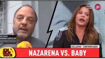 nazarena velez respondio a las criticas de baby etchecopar: es nefasto, parece el tio borracho que hay que esconder en la familia