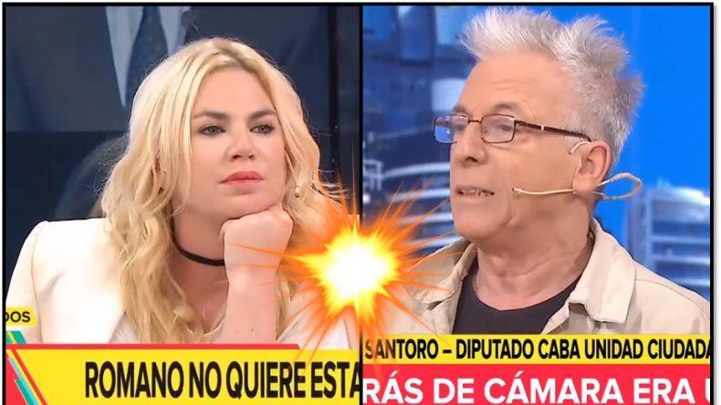 Escándalo: Ante la presencia de Esmeralda Mitre, Gerardo Romano abandonó el estudio y la actriz hizo una grave denuncia