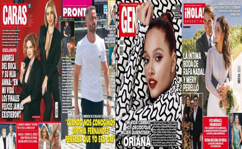 Baclini y la duda de Cinthia, Andrea del Boca y su hija hablan de sus vidas y las revistas de la semana
