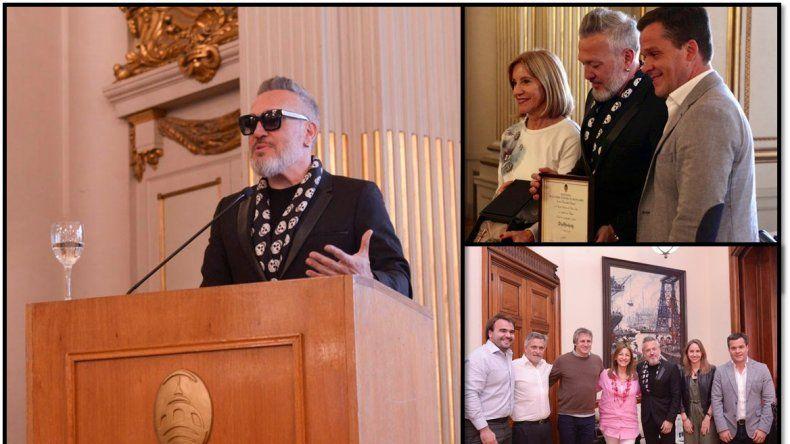Diego Kolankowsky recibió su distinción como Personalidad Destacada de la Cultura