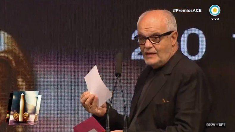 Insólito: el sobre del ganador del Premio ACE de Oro estaba sin nombre