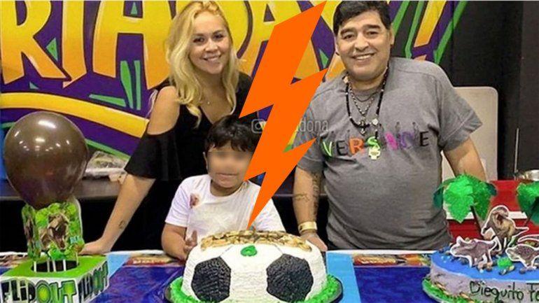 Maradona enojado con Ojeda se desquitó con su hijo el día de su cumpleaños y lo dejó afuera del festejo