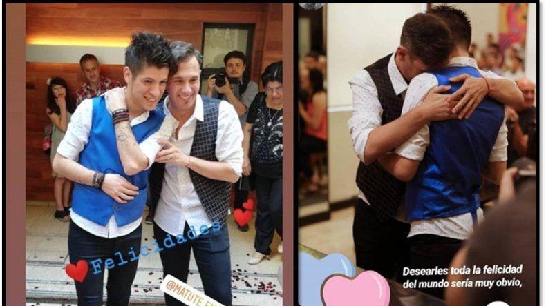 Fotos y videos del casamiento de Matías Bertolotti, el meteorólogo de TN, con su novio Gabriel