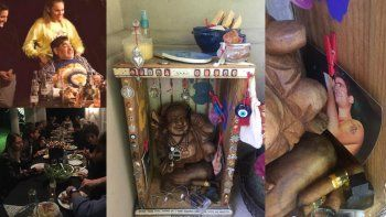 las fotos intimas del festejo de cumpleanos de diego maradona