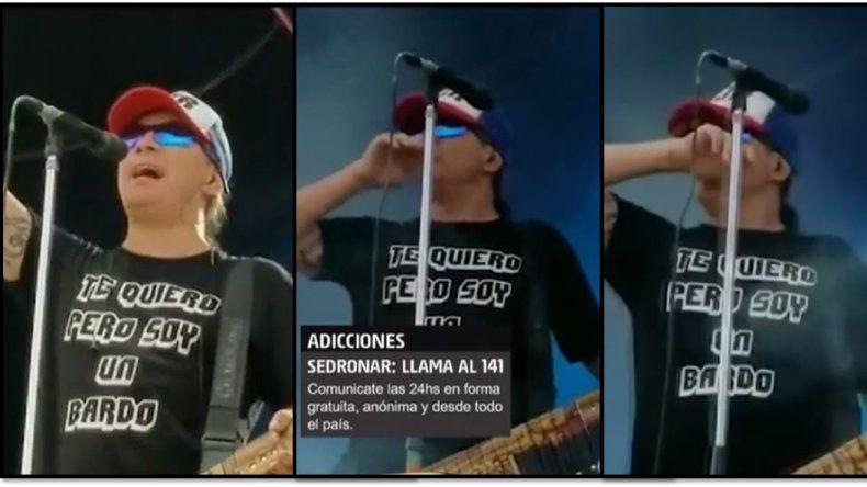 ¿Que le dieron a Pablo Lescano?: Escandalosas imágenes en donde se ve al cantante en  una actitud sospechosa durante un recital