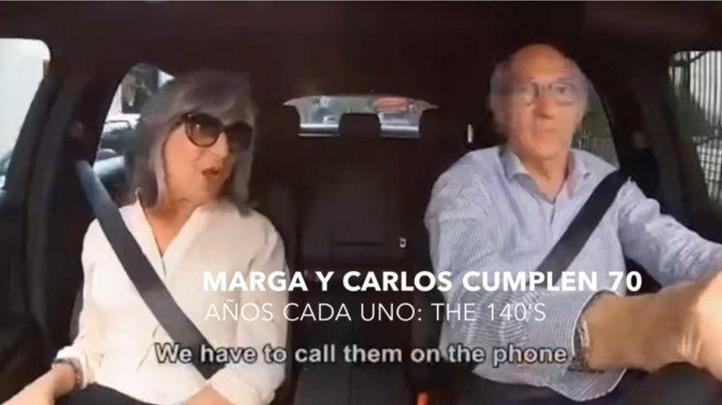 El divertido video de Carlos Bianchi y su mujer por el festejo de sus 140 años