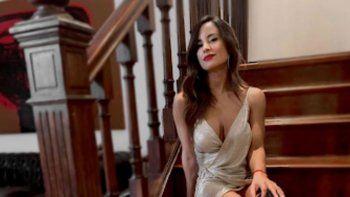 Caída libre: Lourdes Sánchez se dio un tremendo porrazo contra el piso en un ensayo