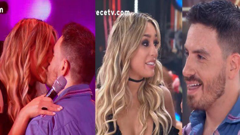 Fede Bal presentó a su nueva novia en el Bailando y se besaron en vivo